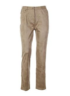 lysa et kara pantalons et decontractes femme de couleur beige