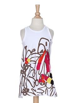 eliane et lena robes fille de couleur blanc