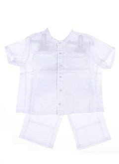 jean et bourget t et shirt et pantalon garcon de couleur blanc