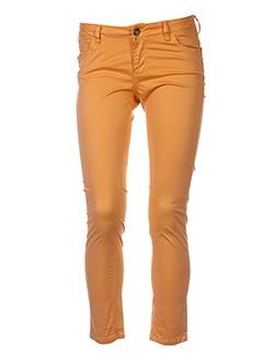 teddy smith pantalons femme de couleur orange