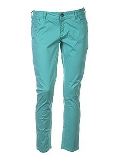 teddy smith pantalons femme de couleur vert