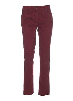 crossways pantalons femme de couleur rouge