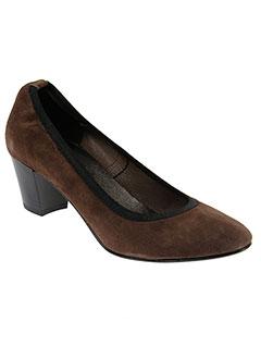 reqins escarpins femme de couleur marron
