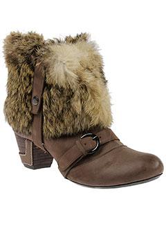 couleur et pourpre boots femme de couleur marron
