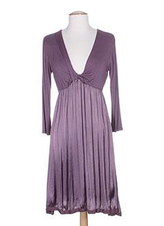 angela et davis robes et mi et longues femme de couleur violet