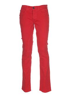 etiqueta negra pantalons homme de couleur rouge