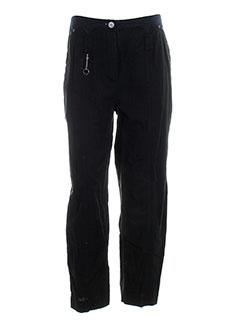 animale pantalons femme de couleur noir