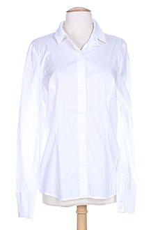 lou de beauregard chemises femme de couleur blanc