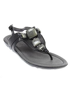 mam et zelle sandales et nu et pieds femme de couleur noir