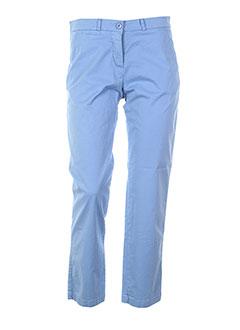 biscote pantalons femme de couleur bleu