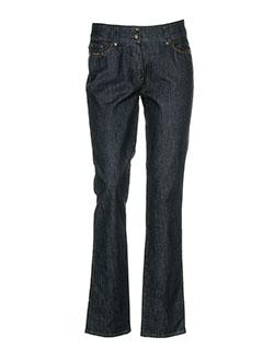 bianca pantalons femme de couleur bleu
