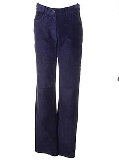 absolu pantalons femme de couleur bleu