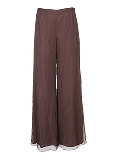 vera mont pantalons femme de couleur marron
