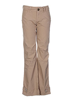 ddp pantalons fille de couleur beige