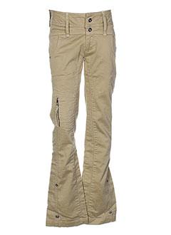 ddp jeans pantalons fille de couleur beige