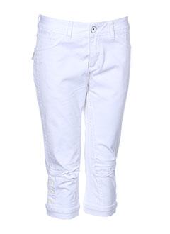 teddy smith shorts / bermudas fille de couleur blanc
