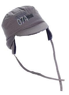 3 et pommes chapeaux et bonnets garcon de couleur gris (photo)