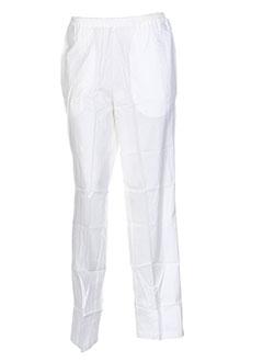 marie la lune pantalons femme de couleur blanc