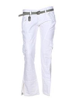 rwd pantalons femme de couleur blanc
