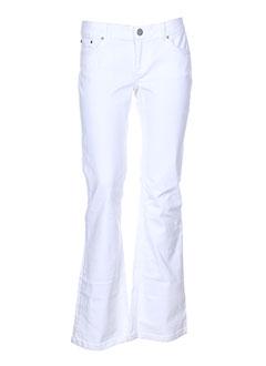 Pantalon casual blanc EU & UY pour femme