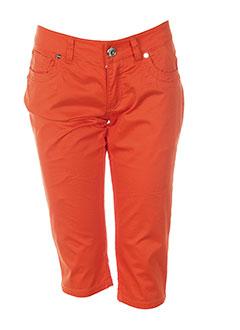 phard pantacourts femme de couleur orange