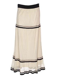 nathalie garcon jupes femme de couleur beige