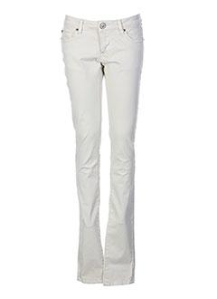 heartless jeans pantalons femme de couleur beige