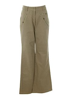 ernest pantalons femme de couleur beige