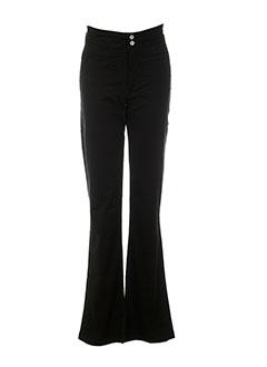 rosa rosam pantalons femme de couleur noir