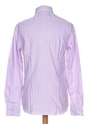 Chemise manches longues violet XACUS pour homme seconde vue