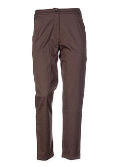 cannisse pantalons femme de couleur marron