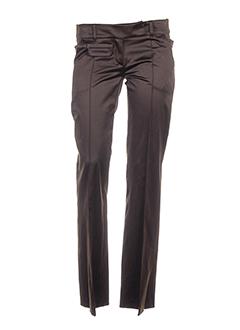 le et group et woman pantalons et decontractes femme de couleur marron