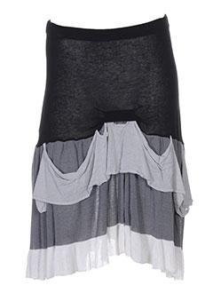 lm la maille jupes femme de couleur gris