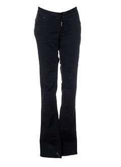 meltin'pot pantalons femme de couleur noir