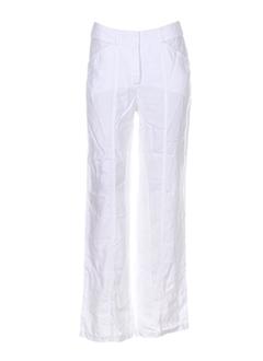 paul brial pantalons femme de couleur blanc