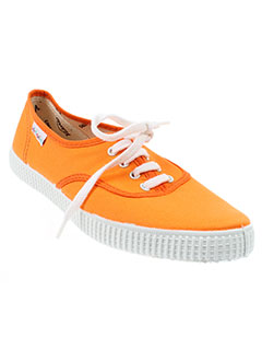 victoria baskets unisexe de couleur orange