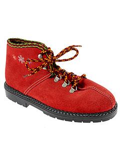 comperes chaussures fille de couleur rouge