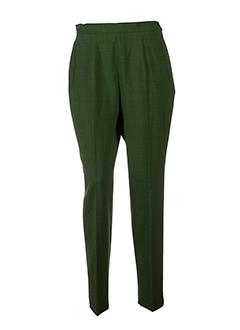 francois favel pantalons femme de couleur vert
