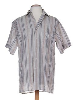 horizon chemises homme de couleur gris