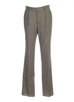 griffe noire pantalons homme de couleur beige