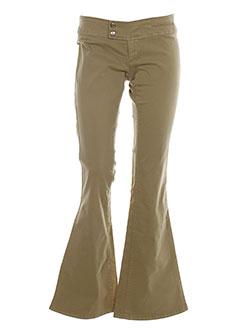cimarron pantalons et citadins femme de couleur beige