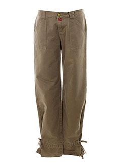 be you k pantalons femme de couleur marron