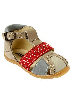 aster sandales et nu et pieds enfant de couleur beige