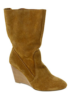 mellow et yellow bottines femme de couleur marron