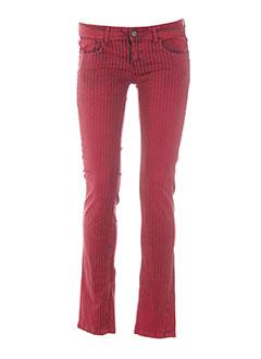 chipie pantalons femme de couleur rouge