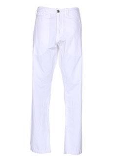 guess pantalons homme de couleur blanc