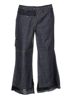 bleu de sym pantacourts femme de couleur gris
