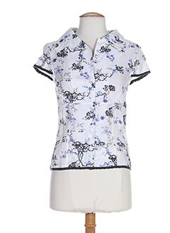 college chemises femme de couleur bleu