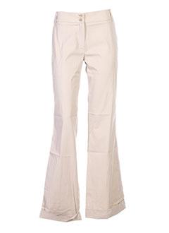 arayal pantalons femme de couleur beige