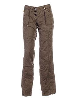 guess by marciano pantalons femme de couleur vert